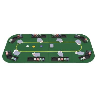 vidaXL Dessus de table de poker 8 joueurs 4 plis rectangulaire Vert[8/9]