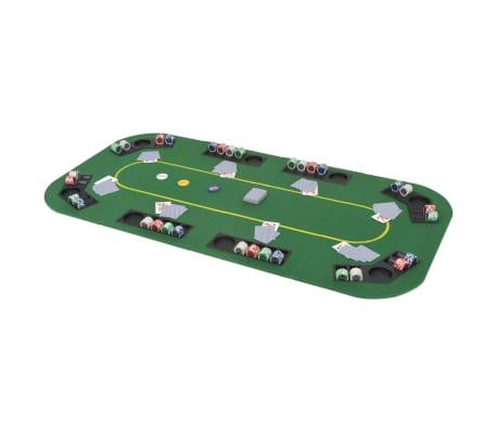 vidaXL Dessus de table de poker 8 joueurs 4 plis rectangulaire Vert[1/9]