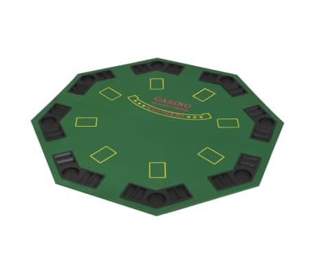 vidaXL Piano da Poker 8 Giocatori Pieghevole in 2 Ottagonale Verde