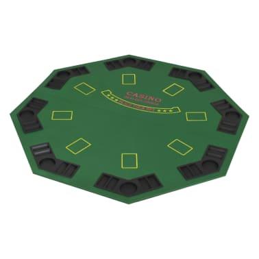 vidaXL Poker tafelblad voor 8 spelers 2-voudig inklapbaar groen[2/6]