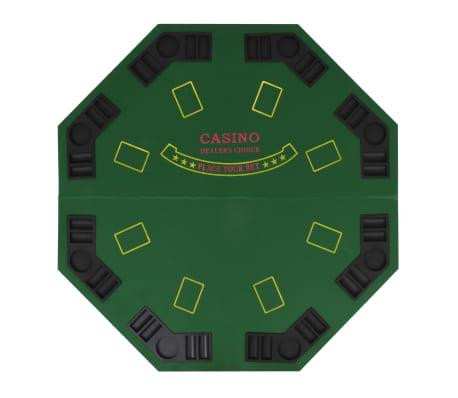 vidaXL Poker tafelblad voor 8 spelers 2-voudig inklapbaar groen[3/6]