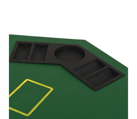 vidaXL Poker tafelblad voor 8 spelers 2-voudig inklapbaar groen[4/6]