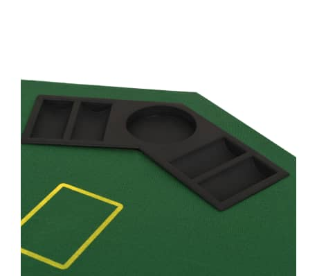 vidaXL Poker tafelblad voor 8 spelers 2-voudig inklapbaar groen[5/6]