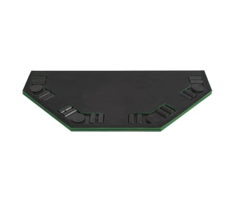 vidaXL Poker tafelblad voor 8 spelers 2-voudig inklapbaar groen[6/6]