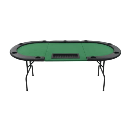 acheter vidaxl table de poker pliable pour 9 joueurs 3 plis ovale vert pas cher. Black Bedroom Furniture Sets. Home Design Ideas