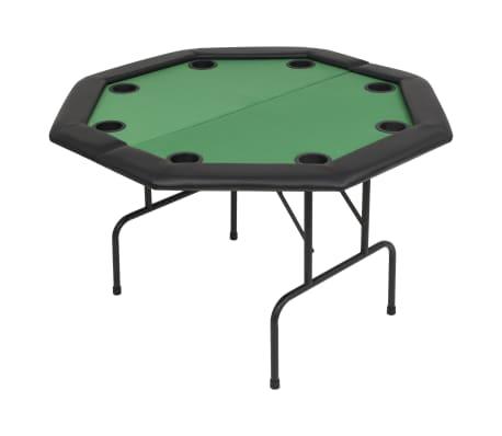 vidaXL 8 személyes, nyolcszögletes, zöld összecsukható pókerasztal