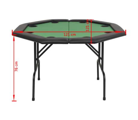 vidaXL Pokerio stalas, sulankst., 8 žaid., 2d., aštuonkampis, žalias[6/6]