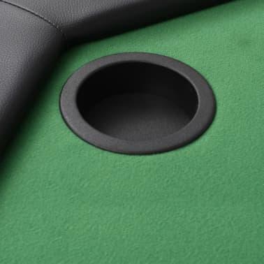 vidaXL Pokerio stalas, sulankst., 8 žaid., 2d., aštuonkampis, žalias[5/6]
