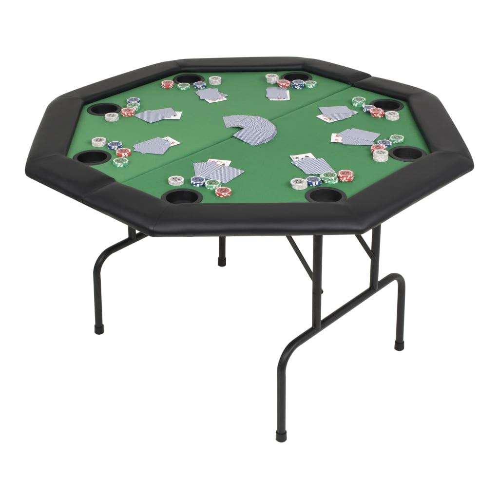 vidaXL Skládací pokerový stůl pro 8 hráčů 2 díly osmihranný zelený