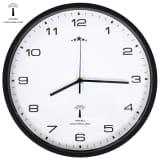 vidaXL Радиоуправляем стенен часовник, кварцов, 31 см, бяло и черно