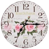 vidaXL Vintage Wall Clock Flower 30 cm