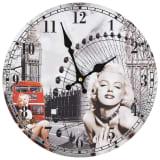 vidaXL Vintage Wall Clock Marilyn Monroe 30 cm