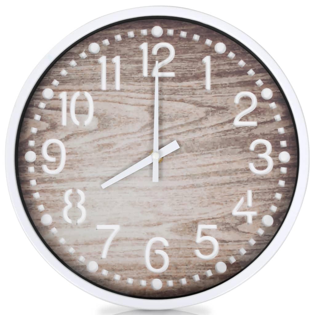 vidaXL Ceas de perete, 30,5 cm, aspect lemn vidaxl.ro
