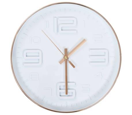 vidaXL Wall Clock Copper Look 30 cm
