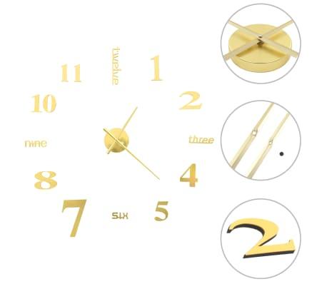 vidaXL 3D Wall Clock Modern Design 100 cm XXL Gold
