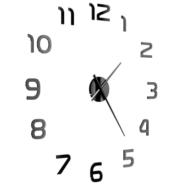 vidaXL Orologio da Parete 3D in Stile Moderno 100cm XXL Nero[3/5]