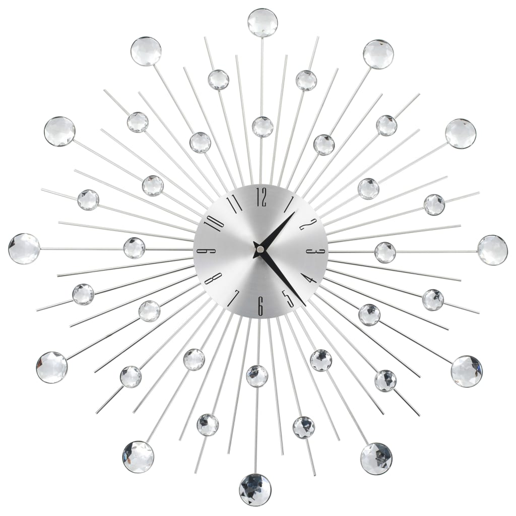 vidaXL Ceas de perete, mecanism cuarț, 50 cm, design modern vidaxl.ro
