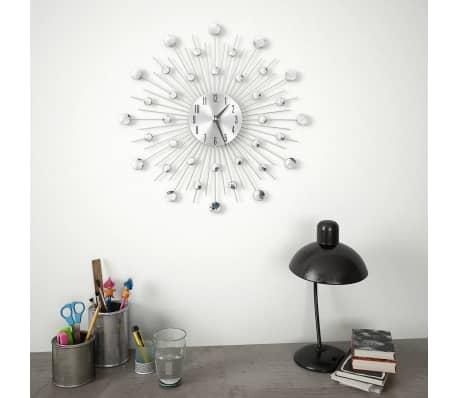vidaXL Wanduhr Quarzwerk Modern 50 cm Analog Uhr Bürouhr Küchenuhr Wohnzimmer