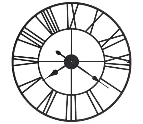 vidaXL Horloge murale vintage avec mouvement à quartz Métal 80 cm XXL