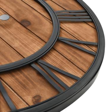 vidaXL Reloj de pared vintage movimiento cuarzo madera metal 60 cm XXL[5/6]