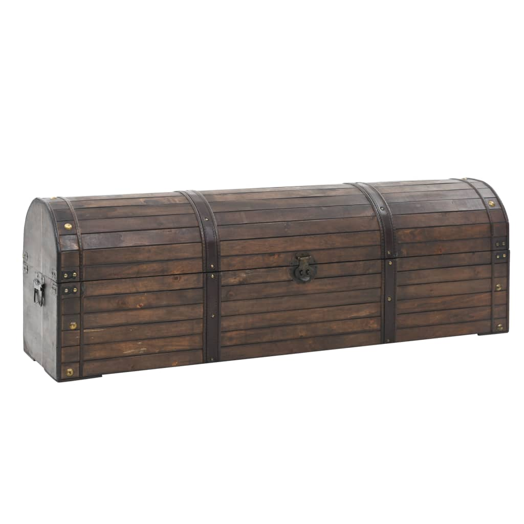 vidaXL Opbergkist vintage stijl 120x30x40 cm massief hout