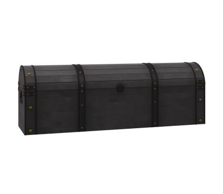 vidaXL Coffre de rangement Bois massif style vintage 120 x 30 x 40 cm[2/8]
