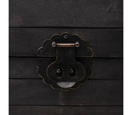 vidaXL Coffre de rangement Bois massif style vintage 120 x 30 x 40 cm[7/8]