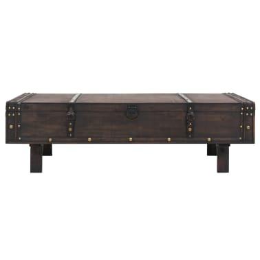 vidaXL Măsuță de cafea din lemn masiv, stil vintage, 120 x 55 x 35 cm[2/8]