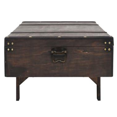 vidaXL Măsuță de cafea din lemn masiv, stil vintage, 120 x 55 x 35 cm[5/8]
