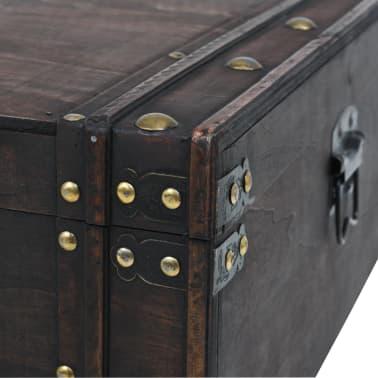 vidaXL Măsuță de cafea din lemn masiv, stil vintage, 120 x 55 x 35 cm[7/8]