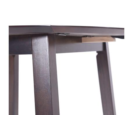 vidaXL bāra galds, 90x91 cm, tumši brūns masīvkoks[5/8]