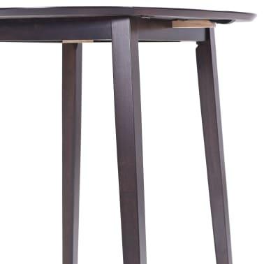 vidaXL bāra galds, 90x91 cm, tumši brūns masīvkoks[6/8]