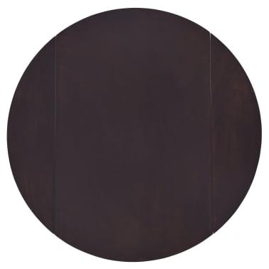 vidaXL bāra galds, 90x91 cm, tumši brūns masīvkoks[7/8]