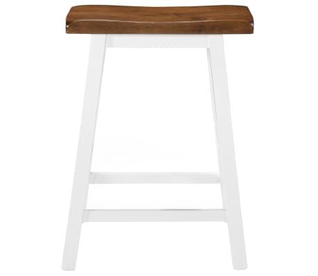 acheter vidaxl tabouret de bar 2 pcs bois massif 45 x 23 x 60 cm pas cher. Black Bedroom Furniture Sets. Home Design Ideas