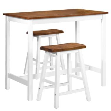 vidaXL Barska mizica in stolčki 3 delni komplet iz trdnega lesa[2/13]
