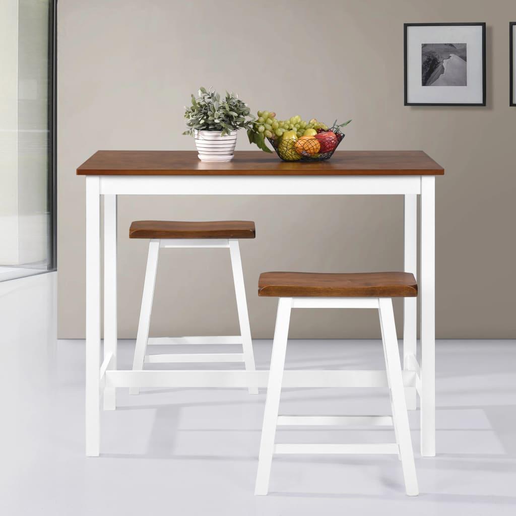 bartisch set mit barhocker holz 3 tlg 5 tlg stehtisch tresentisch barstuhl ebay. Black Bedroom Furniture Sets. Home Design Ideas