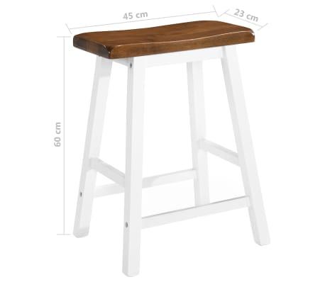 vidaXL Barska mizica in stolčki 3 delni komplet iz trdnega lesa[12/13]