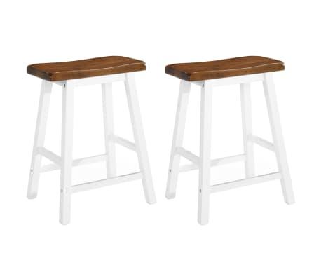 vidaXL Barska mizica in stolčki 3 delni komplet iz trdnega lesa[5/13]