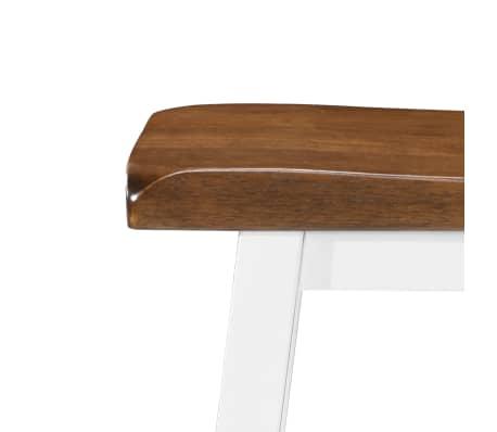 vidaXL Barska mizica in stolčki 3 delni komplet iz trdnega lesa[8/13]