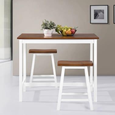vidaXL Barska mizica in stolčki 3 delni komplet iz trdnega lesa[3/13]