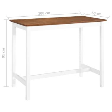 Vidaxl Stolik I Krzesła Barowe 3 Elementy Drewno Sklep