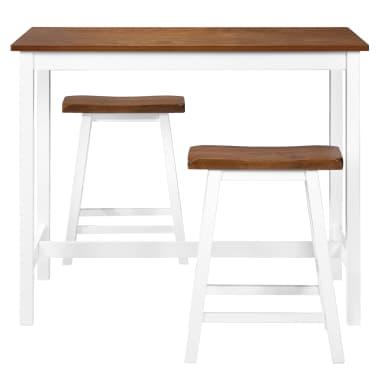 vidaXL Barska mizica in stolčki 3 delni komplet iz trdnega lesa[4/13]
