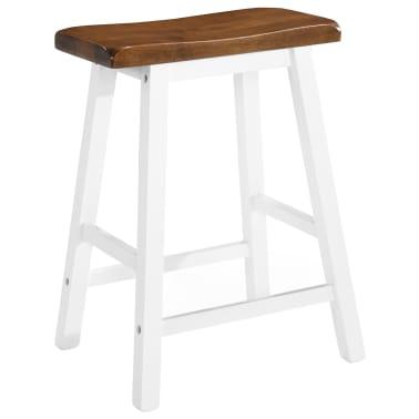 vidaXL Barska mizica in stolčki 3 delni komplet iz trdnega lesa[6/13]