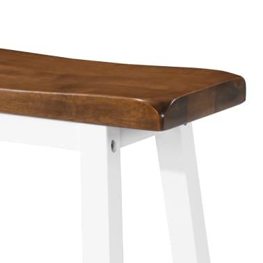 vidaXL Barska mizica in stolčki 3 delni komplet iz trdnega lesa[7/13]