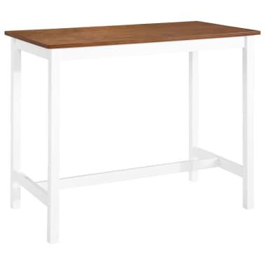 vidaXL Barska mizica in stolčki 3 delni komplet iz trdnega lesa[9/13]