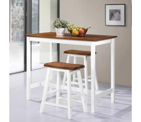 vidaxl bartisch und hocker set 3 tlg massivholz g nstig kaufen. Black Bedroom Furniture Sets. Home Design Ideas