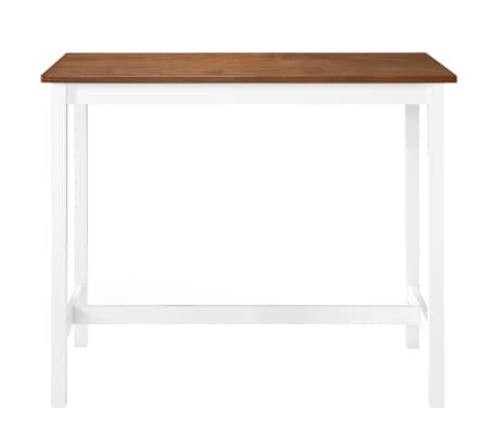 vidaXL Baro stalas, masyvi mediena, 108x60x91cm[2/5]