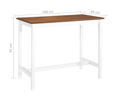 vidaXL Baro stalas, masyvi mediena, 108x60x91cm[5/5]
