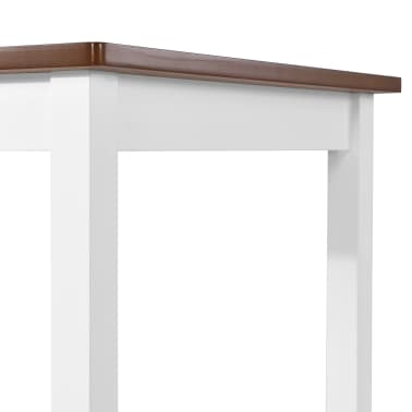 vidaXL Baro stalas, masyvi mediena, 108x60x91cm[4/5]