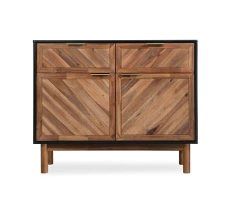 vidaXL Spintelė iš tvirtos akacijos medienos, 90x33,5x75 cm[2/9]
